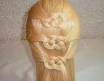 прическа кельтский узел
