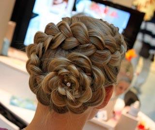 коса цветок