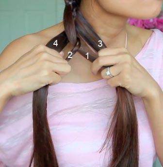 как сделать косу 4 пряди