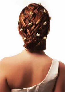 свадебная прическа с плетением