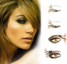 как накрасить глаза