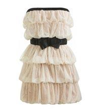 бежевое платье