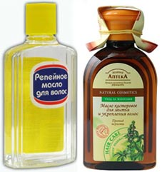 касторовое и репейное масло для волос