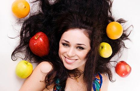 фруктовая диета для волос