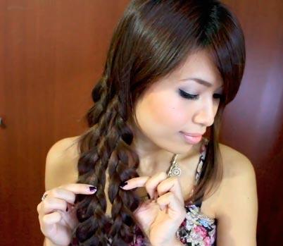 красивое плетение косы