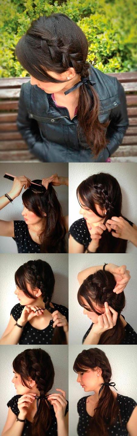 вывернутая французская коса