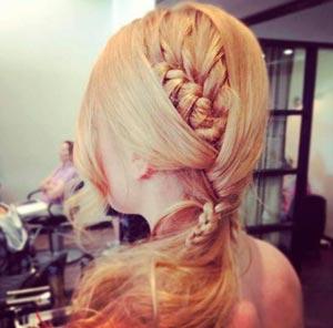 коса в хвосте