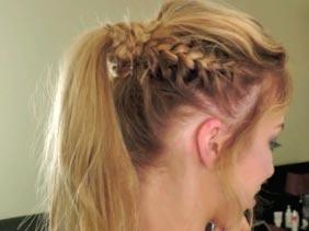 обучение плетению косы в хвосте
