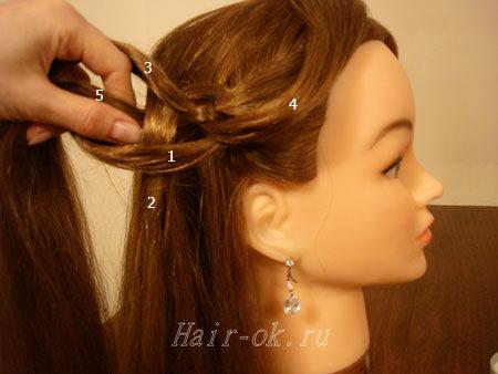 коса из 5 прядей