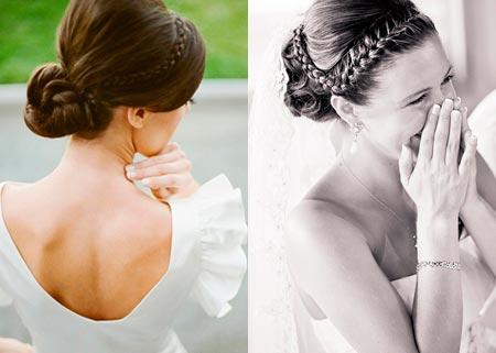 мастер-класс свадебной прически с косой