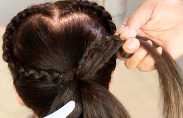 прическа с косой
