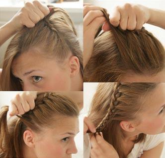 урок создания прически с косой