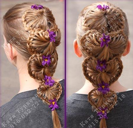 необычное плетение кос