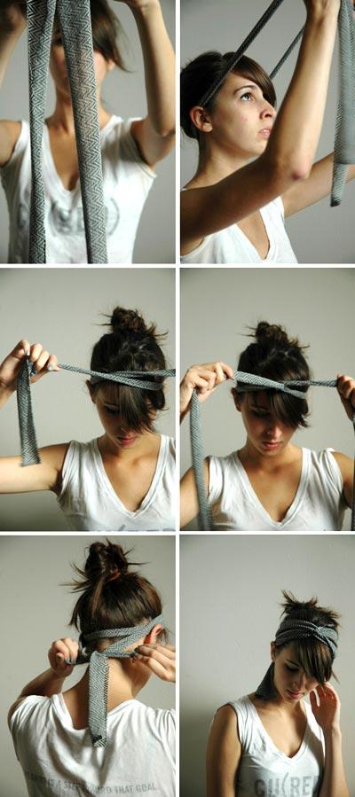 повязка на голову своими руками