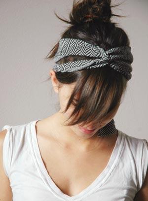 повязка на волосы своими руками