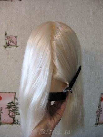 плетение косы колосок