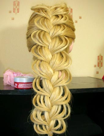 красивая ажурная коса