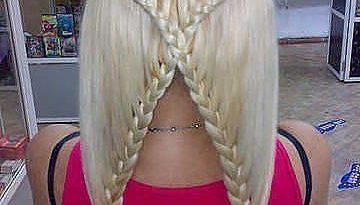 косоплетение: коса Х