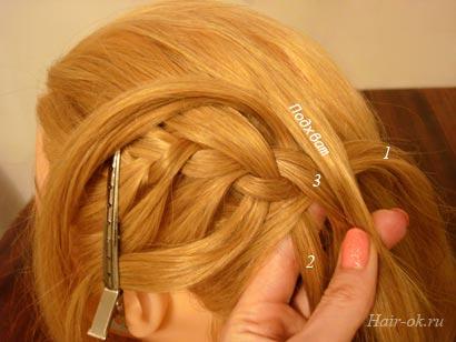 коса с выпущенными прядками