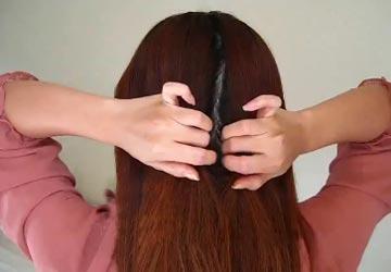 весенняя прическа с косой