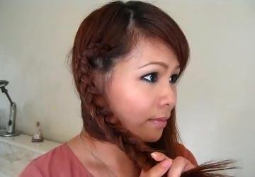 что сделать на голове с косами