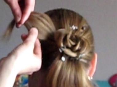 листочки из волос