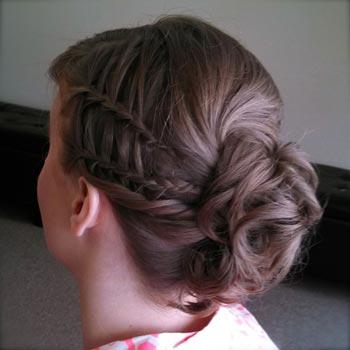 двойная коса водопад