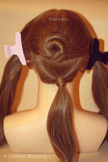 косы вокруг головы