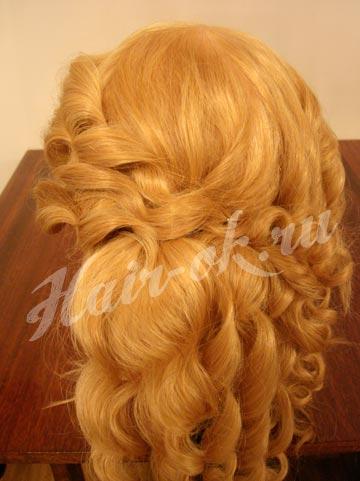 прическа из накрученных волос