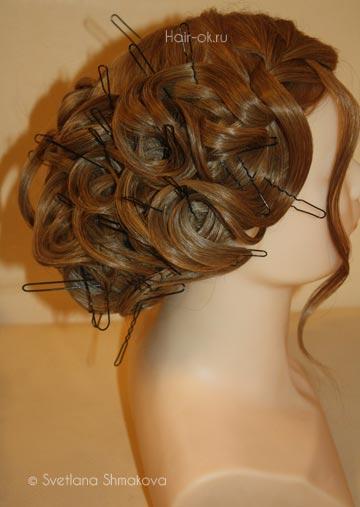 свадебная прическа на основе кос