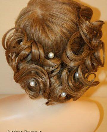 свадебная прическа на косы