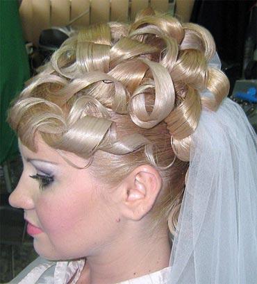 свадебная прическа с буклями