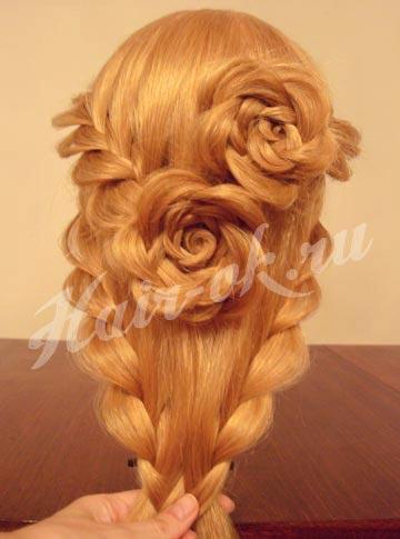 цветок из косы