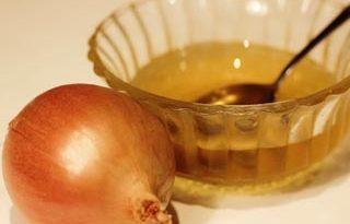 лук и мед от выпадения волос