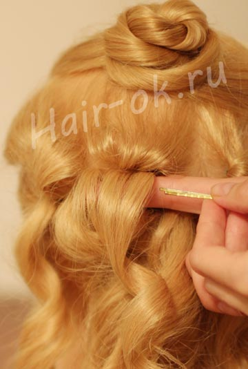 каскад волос