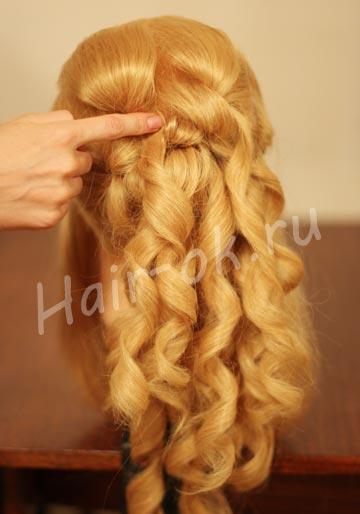 прическа каскад волос