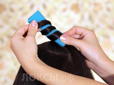 как завить волосы на Локсы