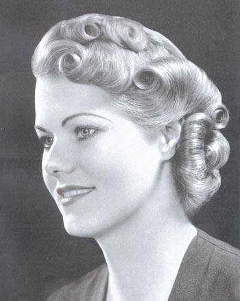 прическа в стиле 30-х