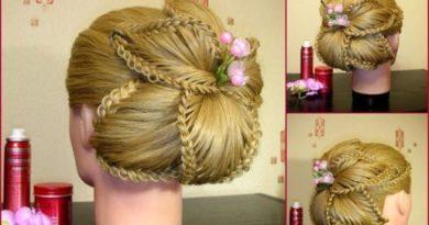 цветок из кос