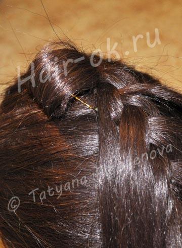 коса бант