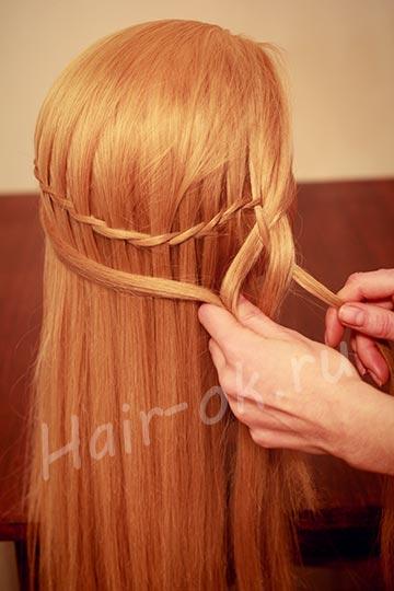 коса на бок
