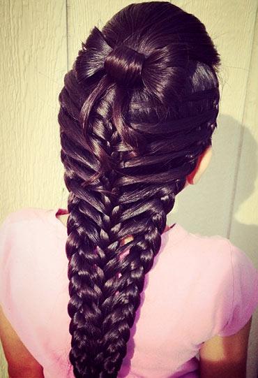 прическа длинная коса