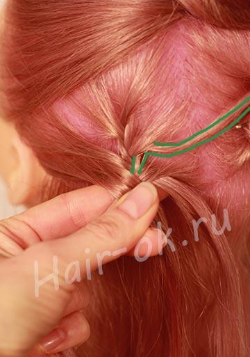 прическа коса на длинные волосы