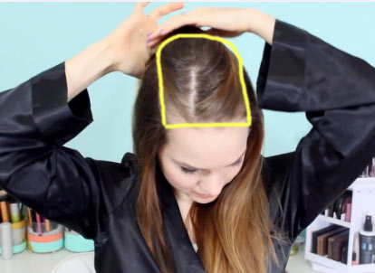 пробор волос