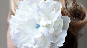 цветок в прическу