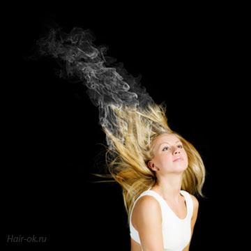 сожженные волосы