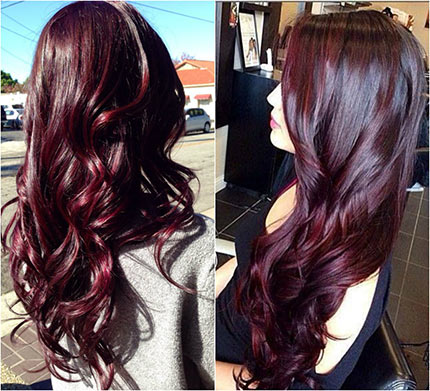 бургундский оттенок волос