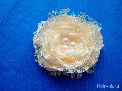 цветок для волос