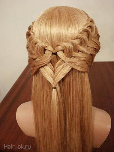 косы на распущенные волосы