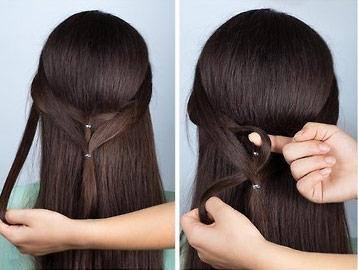 красивая коса на длинные волосы